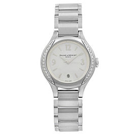 Baume et Mercier Ilea MOP Arabic Dial Steel Diamond Quartz Ladies Watch 8771