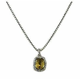 David Yurman Albion Diamond & Citrine Sterling Silver Pendant & Chain Necklace