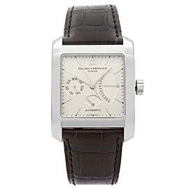Baume & Mercier Hampton Classic Square Day-Date Silver Dial Mens Watch 8757