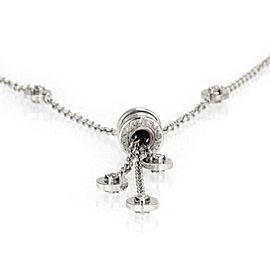 Bvlgari B Zero-1 Diamond 18k White Gold Mini Charm Tassel Pendant Necklace
