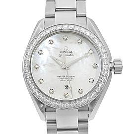 Omega Aqua Terra Steel 1.68Cttw Diamond Dial Ladies Watch 231.15.34.20.55.002