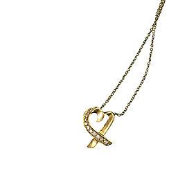 Tiffany & Co. Paloma Picasso 18K Yellow Gold & Diamond Heart Pendant Necklace