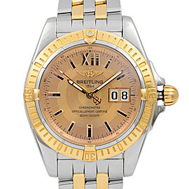 Breitling Crosswind Cockpit Steel 18K Yellow Gold Automatic Mens Watch C49350