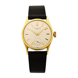 Patek Philippe Calatrava 18K Yellow Gold Manual Wind Mens Vintage Watch 3796J
