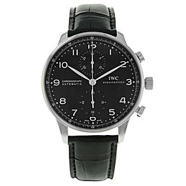 IWC Schaffhausen Portugieser Black Arabic Dial Steel Automatic Watch IW371447