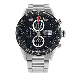 Tag Heuer Carrera Steel Ceramic Black Dial Automatic Mens Watch CAR2A10.BA0799