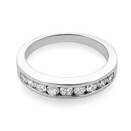 Rachel Koen Platinum Diamond Ladies Wedding Band Ring 0.50cttw