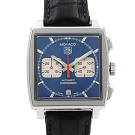 Tag Heuer Monaco Square Blue Dial Steel Automatic Mens Watch CW2113.FC6183