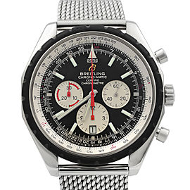 Breitling Chrono-Matic 49 Steel Black Dial Mens Watch A1436002/B920-152A