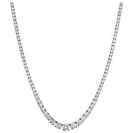 Rachel Koen Platinum Prong Set Diamond Tennis Necklace 20.00cttw
