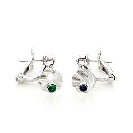 Boucheron Diamond & Rock Crystal & Gems 18k White Gold Dangle Earrings