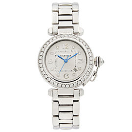 Cartier Pasha 18K White Gold Diamond Watch Automatic Ladies Watch 2398