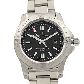 Breitling Colt Steel Volcano Black Dial Automatic Mens Watch A17388101B1A1