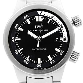 IWC Aquatimer Stainless Steel Black Dial Automatic Mens Watch IW354805