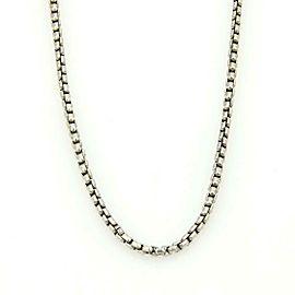 "David Yurman Sterling Silver 3.5mm Box Link Chain 22.5"" Long"