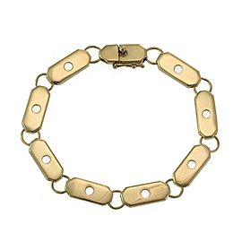 "Henry Dunay 18k Yellow Gold Bar Link Bracelet 8.25"" Long"