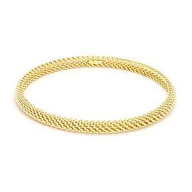 Tiffany & Co. Somerset 18k Yellow Gold 5.5mm Dome Mesh Bangle
