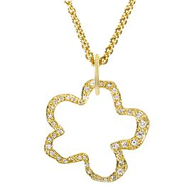 Robert Lee Morris 18K Yellow Gold & Diamond Flower Pendant Necklace