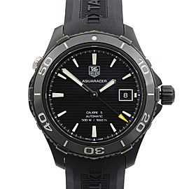 TAG Heuer Aquaracer Titanium Carbide Ceramic Black Dial Men Watch WAK2180.FT6027