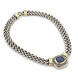 David Yurman Albion Chalcedony 14k Gold & 925 Silver Double Chain Necklace