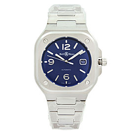 Bell & Ross Instruments Steel Blue Dial Automatic Mens Watch BR05A-BLU-ST/SST
