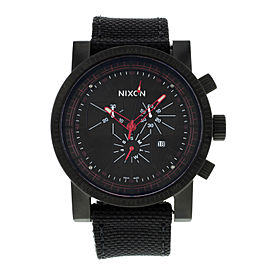 Nixon The Magnacon Black Dial Stainless Steel Quartz Mens Watch A079001-00