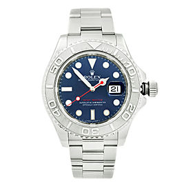 Rolex Yacht-Master 40mm Platinum Steel Blue Dial Automatic Mens Watch 116622