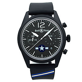 Bell & Ross Insignia US Steel Black Dial Automatic Mens Watch BRV126-BL-CA-CO/US