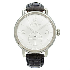 Bell & Ross Argentium WW1 Silver Dial Hand Wind Mens Watch BRWW1-ME-AG-SI/SCR