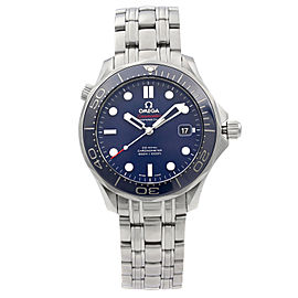 Omega Seamaster Diver Steel Blue Dial Automatic Mens Watch 212.30.41.20.03.001