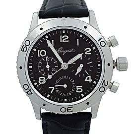 Breguet Type XX Aeronvale Steel Black Dial Automatic Mens Watch 3800ST/92/9W6