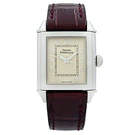 Girard-Perregaux Vintage 1945 Steel Silver Dial Hand-Wind Ladies Watch 25900