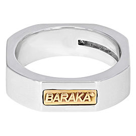 Baraka 18K White Gold Round Cut Diamond Wedding Band Unisex Ring Size 5.5