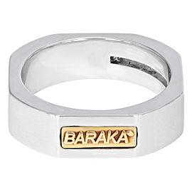 Baraka 18K White Gold Round Cut Diamond Wedding Band Unisex Ring Size 5.5