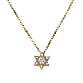 Roberto Coin Diamond 18k Yellow Gold Star of David Pendant & Chain