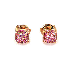 Tiffany & Co. Picasso Sugar Stacks 18k Rose Gold Pink Sapphire Stud Earrings