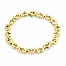 Cartier C de Cartier 18k Yellow Gold Heart Link Bracelet w/Paper