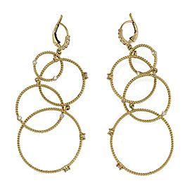 Penny Preville Diamond 18k Yellow Gold Multi-Circle Dangle Hoop Earrings