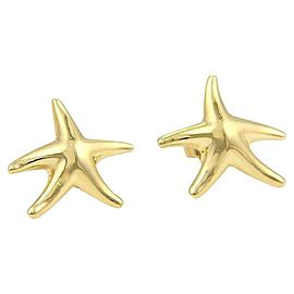 64514 Tiffany & Co. Peretti 18k Yellow Gold Starfish Stud Earrings