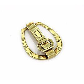 Vintage 14k Yellow Gold Fancy Horseshoe Money Clip & Key Holder Combo