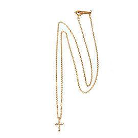 Tiffany & Co. Metro Diamond 18k Rose Gold Mini Cross Pendant & Chain