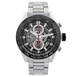 Tag Heuer Carrera Skeleton Steel Ceramic Automatic Mens Watch CAR2A1W.BA0703