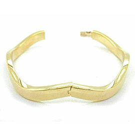 Tiffany & Co. 18k Yellow Gold Wave Bangle Bracelet