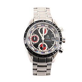 Omega Speedmaster Casino Dial Date Chronograph Chronometer Automatic Watch Stainless Steel 40