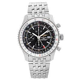Breitling Navitimer GMT 46 Chronograph Black Dial Mens Watch A2432212/B726-453A