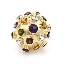 H.Stern Multicolor Gemstone 18k Yellow Gold Large Sputnik Dome Ring Size 6