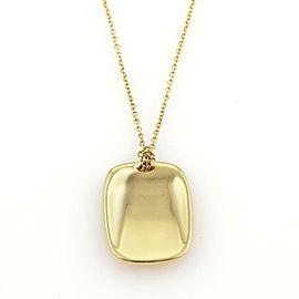 Tiffany & Co Elsa Peretti 18k Gold Concave Rectangular Disc Pendant Necklace