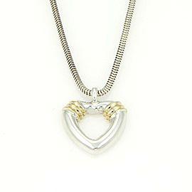 Tiffany & Co. 18k & Sterling Silver Open heart Snake Chain Necklace