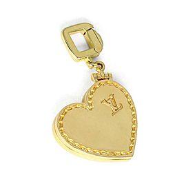 Louis Vuitton 18k Yellow Gold Heart Locket Pendant