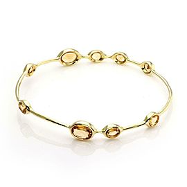 Ippolita Rock Candy Citrine Gems 18k Yellow Gold Bangle
